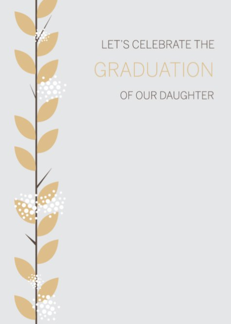 Floral Daughter Graduation
